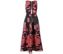 Jacquard-Kleid mit Blumenmuster - Schwarz