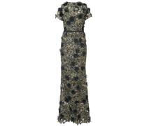 3D floral lace gown - Schwarz