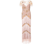 fringed embroidered maxi dress - Rosa & Lila