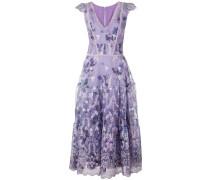 Kleid mit Blütenmuster - Lila