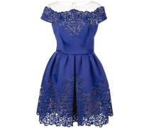 Kleid mit Wellensaum - Blau