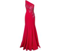 Langes One-Shoulder-Kleid - Rot