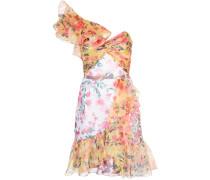 Kleid mit Rüschen - Gelb