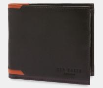 Aufklappbares Leder-portemonnaie Mit Eckdetail