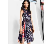 Asymmetrisches Kleid mit Kyoto Gardens-Print