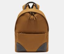 Rucksack aus Nubuk-Kunstleder