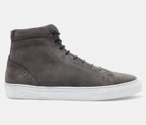Veloursleder-sneakers Mit Brogue-details Und Hohem Schaft
