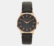 Uhr mit Geprägtem Lederarmband