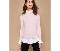 Pullover mit Faltendetails und Hemdeneinsatz