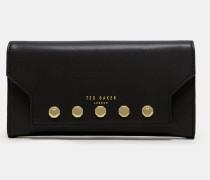 Leder-Portemonnaie mit Nietendetail