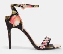 Sandalen Mit Peach Blossom-print