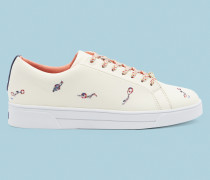 Sneakers mit Schwimmer-Stickerei