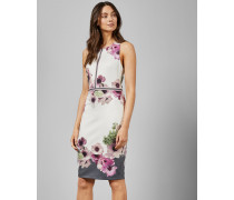 Kleid mit Schnalle und Neopolitan-Print