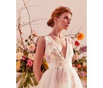 Harmony Plunge Neck Silk Maxi Dress