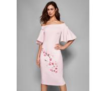 Bardot-Kleid mit Soft Blossom-Print