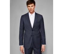 Schmale Debonair-Anzugjacke aus Wolle mit Pinpoint-Muster