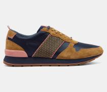 Klassische Sneakers mit Velourslederborten