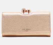 Leder-Portemonnaie mit Verzierter Schließe