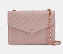 Leder-Kuverttasche mit Schulterriemen