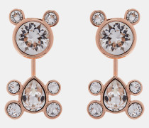 Kristall-Ohrringe im Teddybär-Design