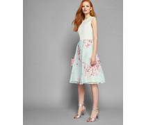 Kleid mit Glockenrock und Soft Blossom-Print