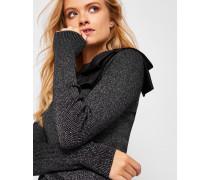 Metallic-Pullover mit Schleifendetail