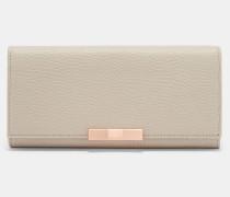 Leder-Portemonnaie mit Zierschleife