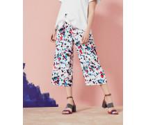 Weite Hose mit Paint Splash-Print