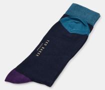 Socken aus Bio-Baumwoll-Mix in Blockfarben