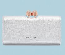 Strukturiertes Leder-Portemonnaie