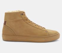 Hi-Top-Sneakers aus Nubukleder