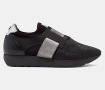 Sneakers mit Glitzerriemen