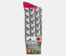 Socken mit Club-Print