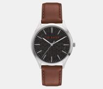 Uhr mit Genarbtem Lederarmband
