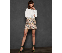Jacquard-Shorts mit Herz-Print