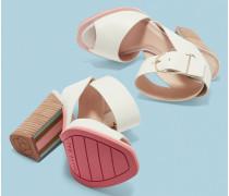 Sandalen mit Gesticktem Schwimmer-Motiv