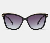 Sonnenbrille mit Metallbügeln