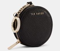 Runde Mini-Tasche aus Leder