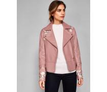 Biker-Jacke aus Leder mit Harmony-Stickerei