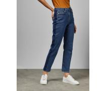 Jeans mit Kontrast-Streifen Am Bein