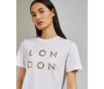 Baumwoll-T-Shirt mit London-Logo