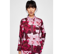 Pyjama-Hemd mit Porcelain Rose-Print