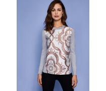 Pullover mit Jacquard und Versailles-Print