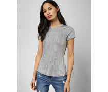 Tailliertes Metallic-T-Shirt