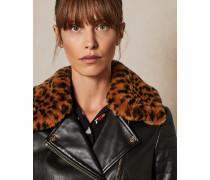Kragen mit Leoparden-Print