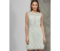 Kleid in A-Linie mit Geometrischer Spitze