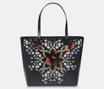 Kyoto Gardens Leather Shopper Bag