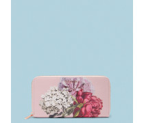 Leder-Portemonnaie mit Palace Gardens-Print