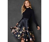Kleid mit Strick-Korsett und Arboretum-Print