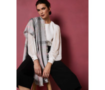 Breite Bouclé-Decke mit Karo-Print